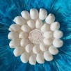 juju hat mini blue turquoise feathers shell centre handmade wall hanging decor