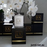 Luxescent Zesty Lemongrass soy candle