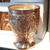 soy wax candle lassi copper cup handmade large