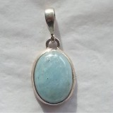 pendant in aquamarine 925 sterling silver
