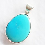 pendant blue turquoise 925 sterling silver