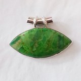pendant green turquoise inspired 925 sterling silver
