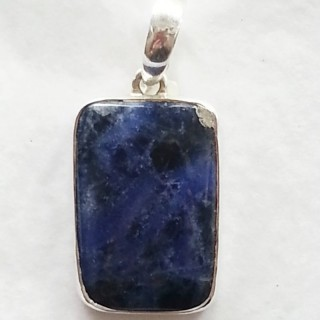pendant blue sodalite 925 sterling silver