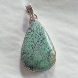 pendant turquoise inspired pear tear shaped 925 sterling silver