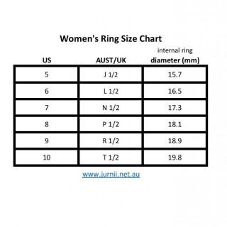 Ring Size Chart - Jurnii Women