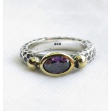 turkish amethyst vintage style ring 925 sterling