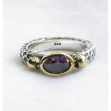 turkish amethyst vintage style ring 925 sterling