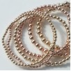 layer stack stretch ball bracelet 3mm, 4mm, 5mm rose gold or yellow gold filled 925