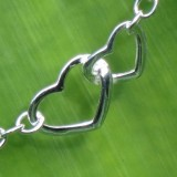 heart chain bracelet 925 sterling