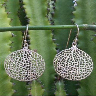 earring drops sea life fan coral drop artisan - 925 sterling silver