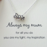 word necklace always my mum 925 sterling silver