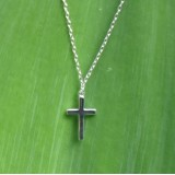 cross necklace tiny pendan 925 sterling