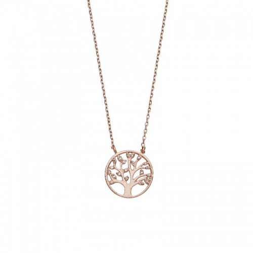 Tree of life pendant necklace with clear cz leaves rose gold or tree of life pendant necklace with clear cz leaves rose gold or silver 925 sterling aloadofball Image collections