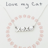 word necklace love my cat kisses 925 sterling silver