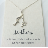 word necklace mother and children 925 sterling silver