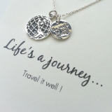 word necklace life's a journey . . . travel it well 925 sterling silver