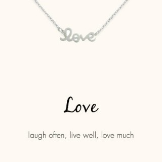 word necklace love pendant 925 sterling silver